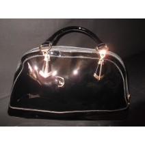 Patent Black Hobo Bag