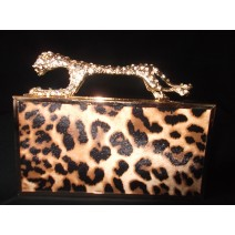 Leopard Box Clutch